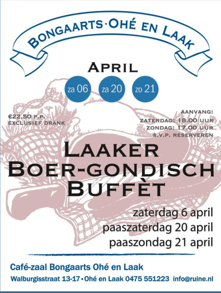 Boer-Gondisch Buffet | Bongaarts