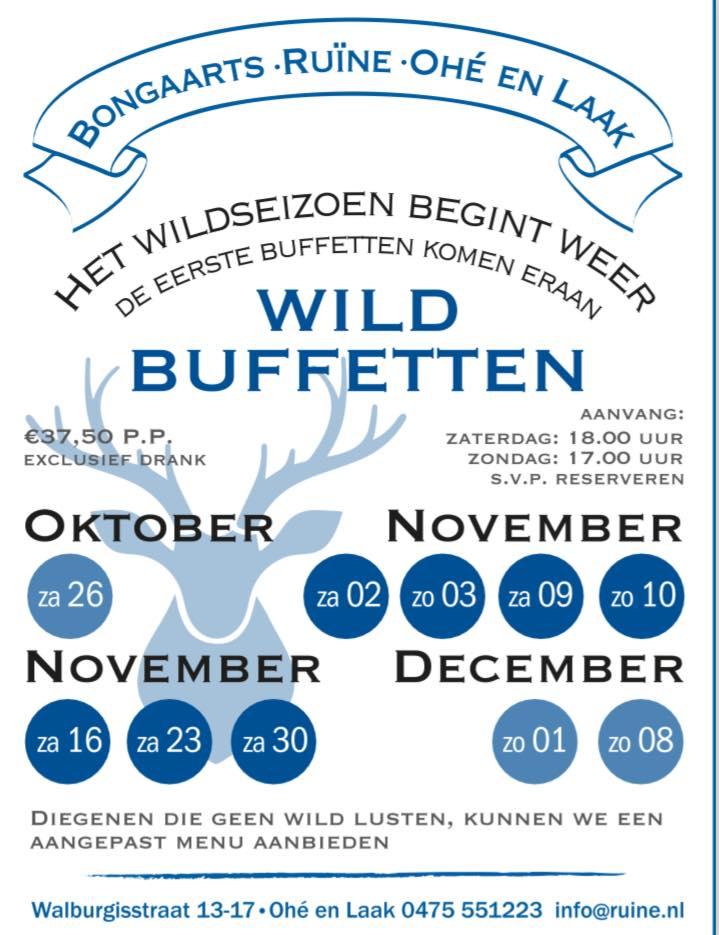 Wildbuffet Bongaarts